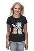 "Футболка (Женская) ""Rick and Morty"" - cartoon, rick and morty, adult swim, рик и морти, купание для взрослых"
