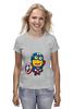 "Футболка (Женская) ""Captain America Minions "" - кэп, мстители, миньоны, капитан америка, captain america"