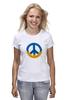 "Футболка классическая ""Ukraine PEACE"" - мир, peace, yellow, blue, ukraine, украина, пацифизм"