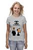 "Футболка (Женская) ""Chanel"" - прикол, юмор, симпсоны, духи, бренд, fashion, коко шанель, brand, the simpsons, coco chanel"