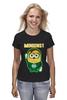 """Футболка (Женская) """"Зелёный Фонарь"""" - мульт, миньоны, green lantern, гадкий я, зелёный фонарь"""