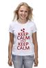 """Футболка (Женская) """"Keep calm"""" - карлсон, спокойствие, keep calm, пропеллер, советские мультфильмы"""