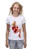 """Футболка (Женская) """"Блондинка"""" - сердце, сердечко, эротика, блондинка"""