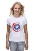 "Футболка (Женская) ""Капитан Америка (Captain America)"" - marvel, капитан америка, captain america"