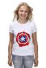 """Футболка (Женская) """"Captain America """" - капитан америка, captain america"""