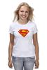 "Футболка (Женская) ""Супермен"" - comics, супермен, superman"