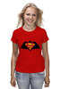 "Футболка (Женская) ""Superman x Batman"" - супермен, batman, superman, бэтман"