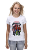"Футболка (Женская) ""Marvel Heroes"" - comics, marvel, superheroes"