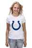 "Футболка (Женская) ""Indianapolis Colts"" - удача, подкова, nfl, американский футбол, indianapolis colts"