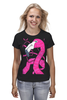 "Футболка (Женская) ""фламинго"" - фламинго, flamingo, розовый фламинго"