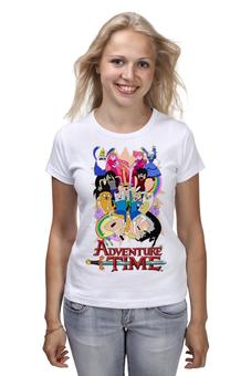 """Футболка (Женская) """"Adventure time"""" - сериал, мульт, время, adventure time, приключений, время приключение"""