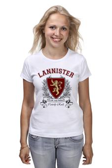 """Футболка (Женская) """"Игра Престолов. Дом Ланнистеров"""" - игра престолов, game of thrones, ланнистеры, house lannister, дом ланнистеров"""