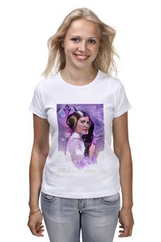"""Футболка (Женская) """"Звёздные войны. Принцесса Лея"""" - кино, фантастика, приключения, звёздные войны, принцесса лея"""