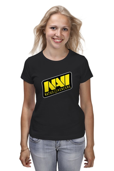 "Футболка классическая ""Natus Vincere Logo (Black)"" - игры, dota, dota 2, navi, natus vincere, дота, edward, киберспорт, dendi, markeloff"