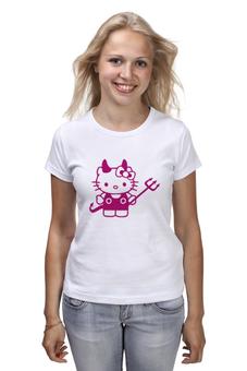 "Футболка (Женская) ""Hello Kitty Devil"" - hello kitty, devil"