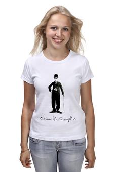 "Футболка (Женская) ""Charlie Chaplin"" - charlie chaplin, чарли чаплин, огни большого города, бродяга"