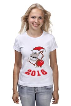 """Футболка классическая """"Обезьяна (Новый год 2016)"""" - новый год, мартышка, обезьяна, monkey, 2016"""