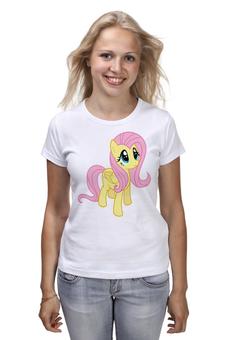 "Футболка (Женская) ""Fluttershy"" - pony, mlp, пони, флаттершай"