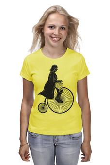 """Футболка (Женская) """"Дарт Вело-Вейдер"""" - арт, star wars, darth vader, велосипед, звездные войны"""
