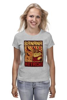 "Футболка (Женская) ""Атака бананов"" - banana, миньоны, банан, гадкий я, minion"