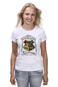 "Футболка классическая ""Хогвартс "" - фантастика, гарри поттер, хогвартс, hogwarts, магия"