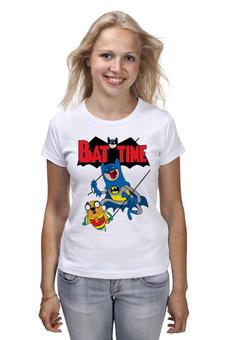 """Футболка классическая """"Бэтмен и Робин (Время Приключений)"""" - batman, adventure time, jake the dog, джейк и финн"""