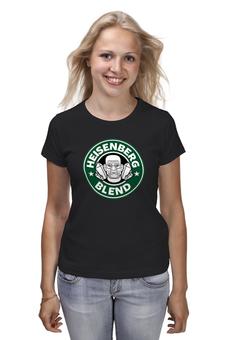 "Футболка (Женская) ""Heisenberg Blend"" - сериал, кофе, во все тяжкие, breaking bad, starbucks"