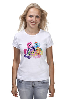 """Футболка (Женская) """"My Little Pony"""" - мультфильм, pony, my little pony, пони, мой маленький пони"""