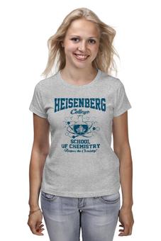 "Футболка (Женская) ""Heisenberg college"" - во все тяжкие, химия, breaking bad, heisenberg, хайзенберг"