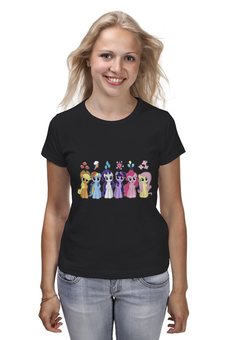"Футболка классическая ""My Little Pony Characters"" - rainbow dash, my little pony, applejack, friendship is magic, fluttershy"