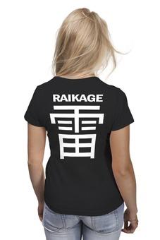 "Футболка (Женская) ""Naruto raikage l"" - аниме, манга, anime, naruto, наруто"