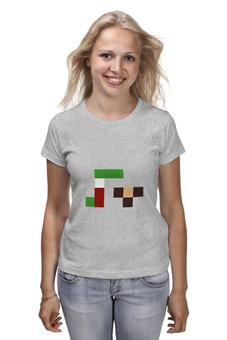 """Футболка классическая """"Гена и чебурашка"""" - pixel, гена, чебурашка, wax, пиксел арт"""