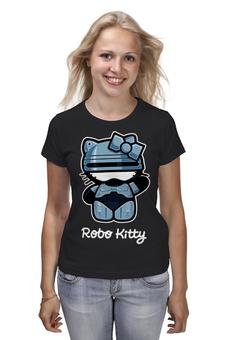 "Футболка классическая ""Robo kitty"" - hello kitty, робокоп, robo kitty, хеллоу китти"