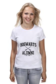 """Футболка классическая """"hogwarts alumni"""" - harry potter, гарри поттер, выпускник хогвартс"""