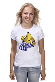 "Футболка (Женская) ""Миньон Банана"" - banana, minion"