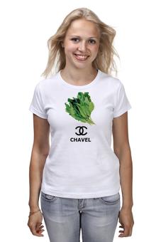 "Футболка классическая ""Fuck fake  Chavel"" - прикол, бренд, дизайнер, огород, дачник"
