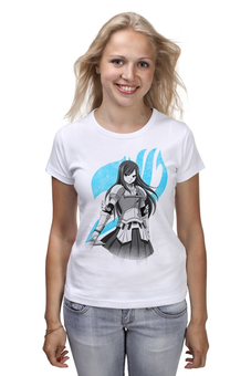 "Футболка (Женская) ""Эрза Скарлет. Fairy Tail"" - аниме, манга, fairy tail, хвост феи, эрза скарлет"