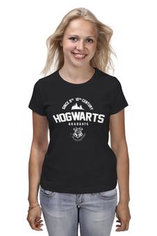 """Футболка классическая """"HOGWARTS Graduate"""" - harry potter, гарри поттер, hogwarts, designministry"""