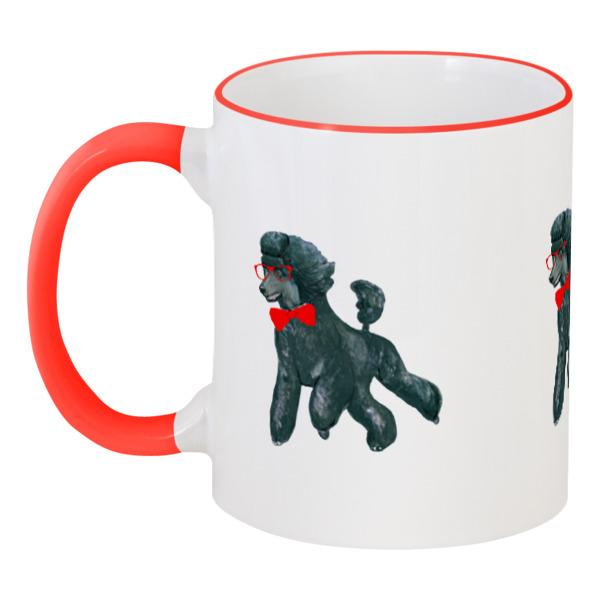 Кружка с цветной ручкой и ободком Printio Моя любимая собака clever моя любимая еда л фадеев