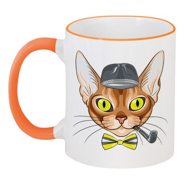 Кружка с цветной ручкой и ободком Printio Персидская кошка кружка с цветной ручкой и ободком printio кот и кошка