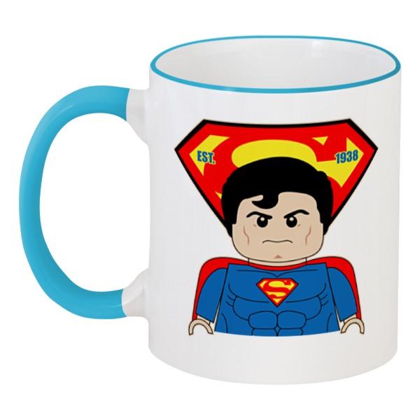 Кружка с цветной ручкой и ободком Printio Лего супермен кружка с цветной ручкой и ободком printio лего супермен