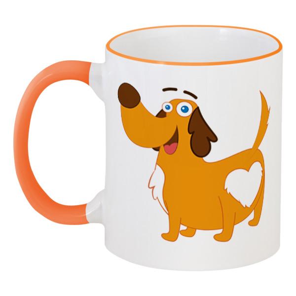 Кружка с цветной ручкой и ободком Printio Собака кружка с цветной ручкой и ободком printio собака