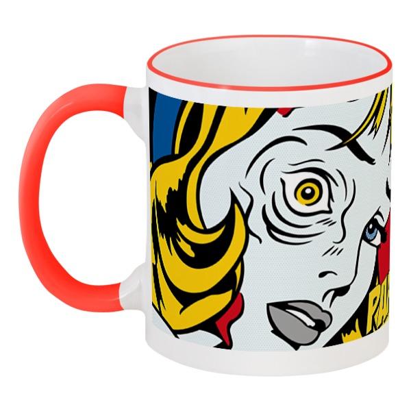 Кружка с цветной ручкой и ободком Printio Mug 4 кружка oem mug 01