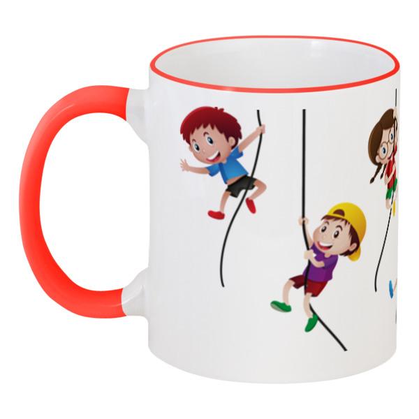 Кружка с цветной ручкой и ободком Printio Детская кружка printio детская