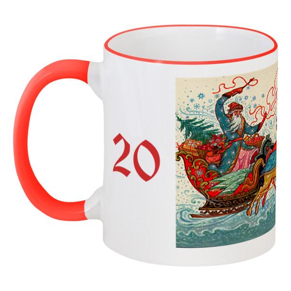Printio Дед мороз шапка карнавальная дед мороз с волосами цвет красный 2266102