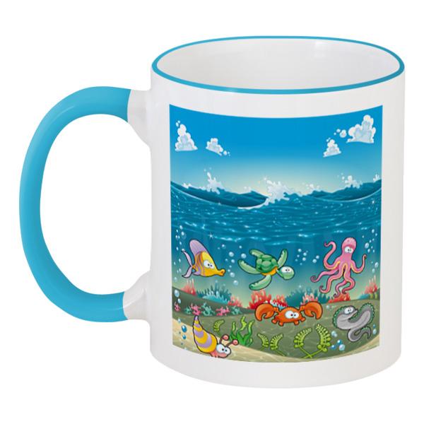 Кружка с цветной ручкой и ободком Printio Обитатели моря puzzle 500 подводные обитатели 29623