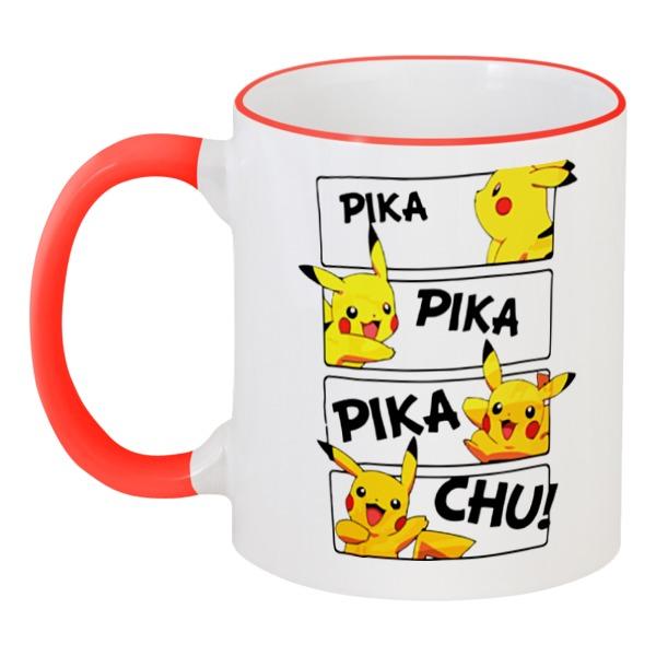 Кружка с цветной ручкой и ободком Printio Покемон ( pokemon )