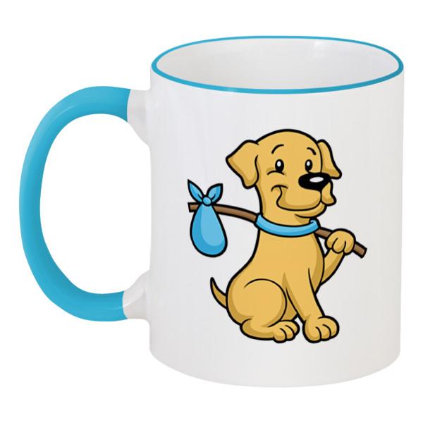 Кружка с цветной ручкой и ободком Printio Пёс - бродяга кружка printio пёс с косточкой