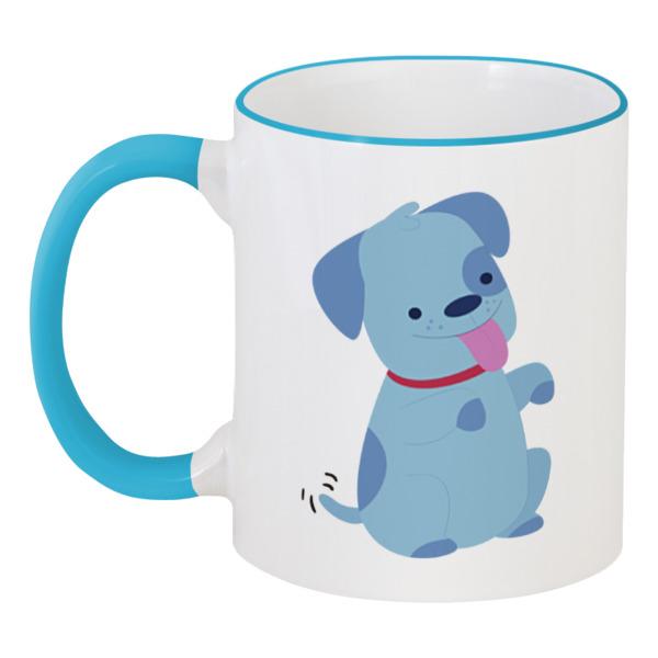 Кружка с цветной ручкой и ободком Printio Смешная собачка кружка с цветной ручкой и ободком printio собачка