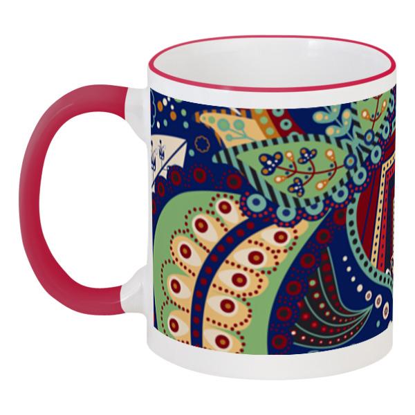 Кружка с цветной ручкой и ободком Printio Орнамент кружка с цветной ручкой и ободком printio helicologie